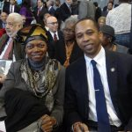 State Sen. Velmanette Montgomery and Assemblyman Walter T. Mosley at the Inauguration Ceremony of City Councilmember Laurie Cumbo's (D-35)