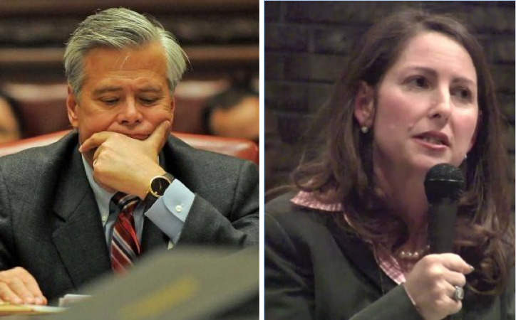 (l to r) State Senator Dean Skelos and Eva Moskowitz, CEO of Success Charter Schools