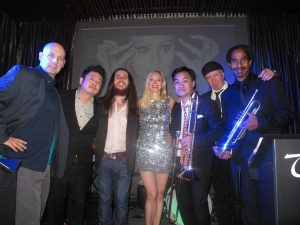 James Smith (far right) with Timatha Kasten and the TKO R&B Band