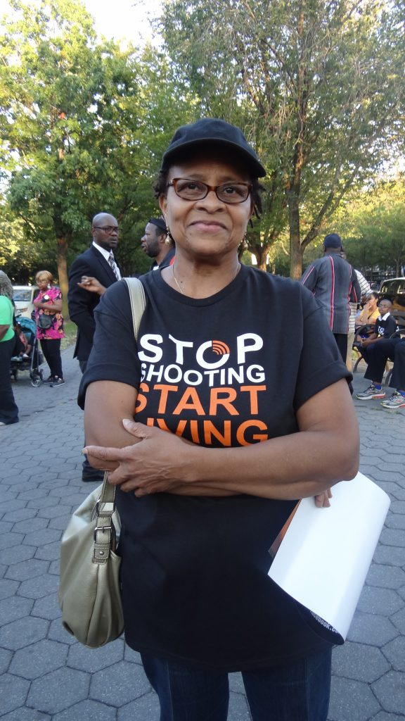 Crystal Floyd, retired: I live in this neighborhood. And it just doesn't make any sense to me that people have to resort to killing each other to resolve problems. I've worked with adolescents for over 35 years—my whole purpose was to graduate them from high school and get them to college. And it just bothers me that young people are dying the way they are dying.