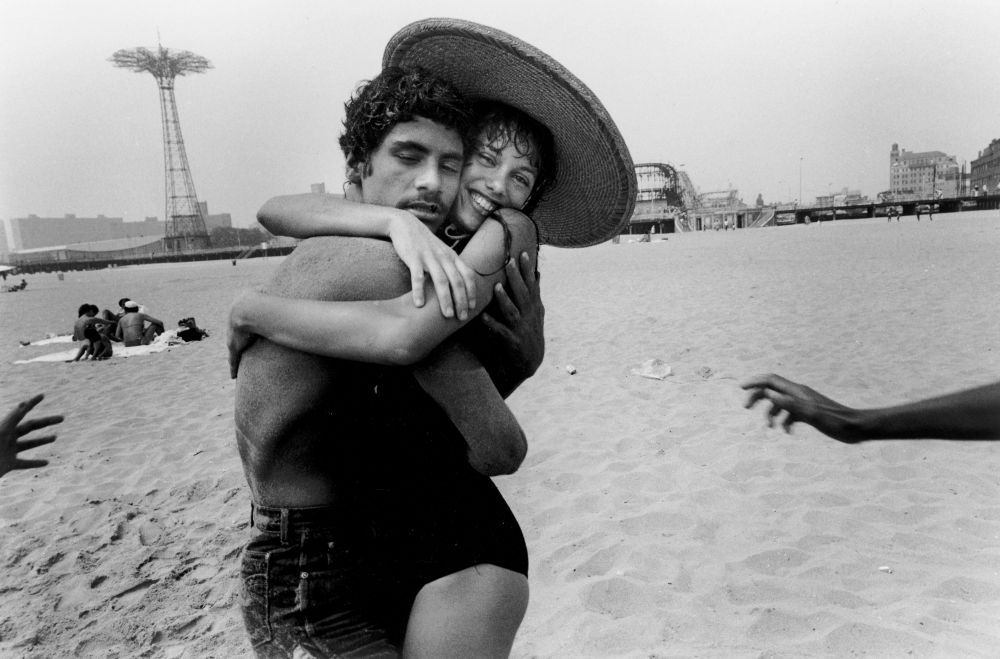"""""""The Hug: Closed Eyes and Smile"""" Harvey Stein, 1982"""