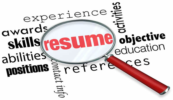 resume writing or biographical sketches