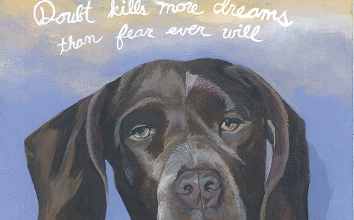 Serious Cute Dog With Suzy Kassem Quote