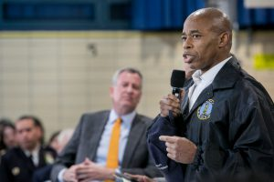 Eric L. Adams, The Brooklyn borough president, Town Hall meeting, New Shelters to Brooklyn