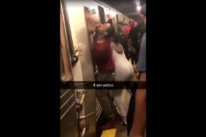 SEE IT: Angry subway riders beat conductor on Brooklyn train after they miss their stop